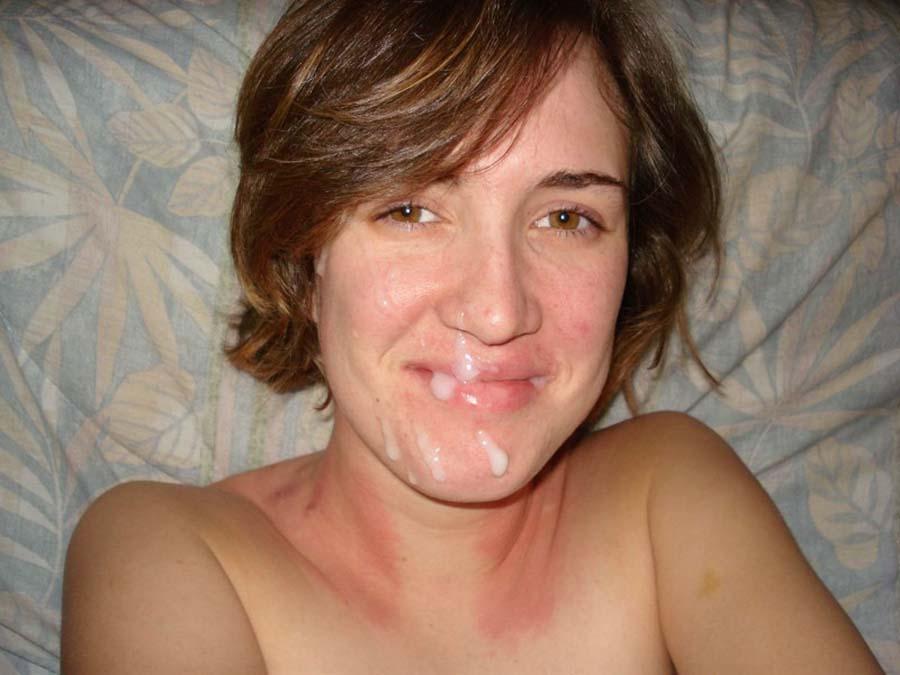 Лица девушек снова в мужской сперме после дрочки - секс порно фото